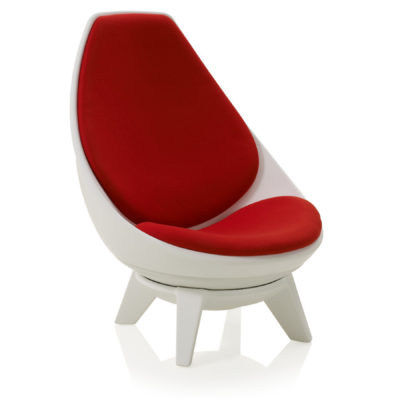 Red sway chair Side