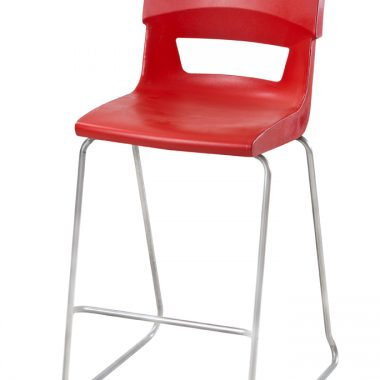 Red Postura Plus Sled Base Stool
