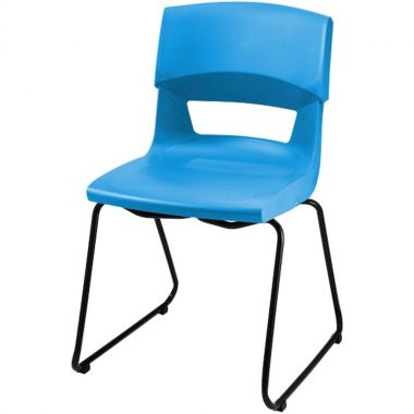 Postura + Sled Base Chair Blue