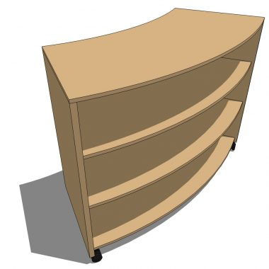 Curved Bookcase - 1052H, 450D