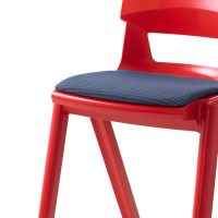 Red Postura Plus Chair Upholstered