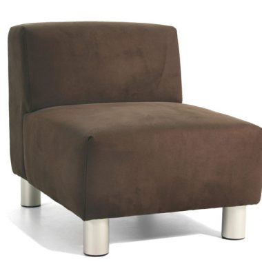 Generation Lounge with No Arms and suede rum fabric