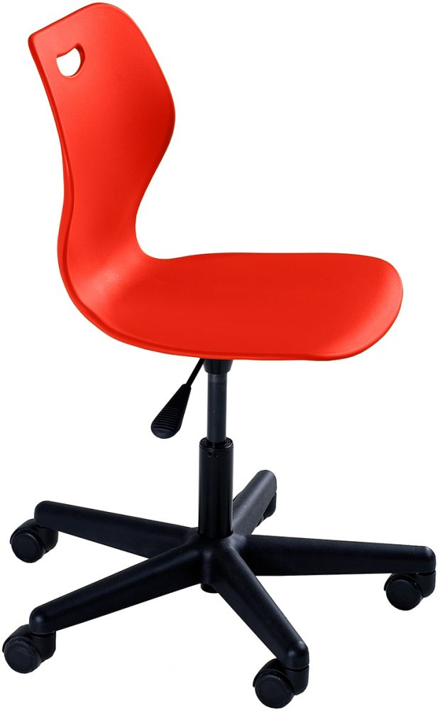 Intellect Wave Gaslift Chair Poppy Red
