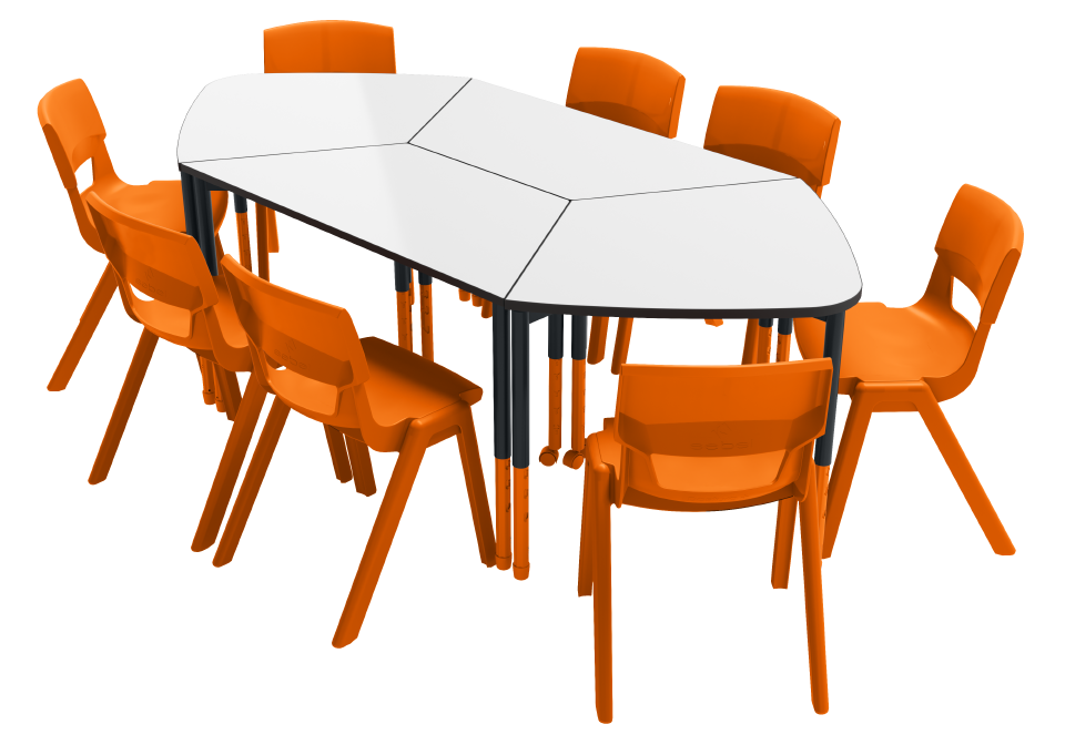 Boardroom - Trapezoidal Twist'n'Lock Table Stingray Twist'n'Lock Table Postura Max Chair