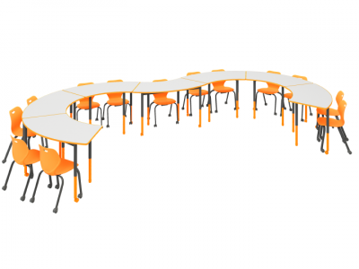 Persuade - Crescent Twist'n'Lock Table Intellect Wave Chair