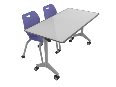 Intellect Duo - Pirouette Table Intellect Wave Chair