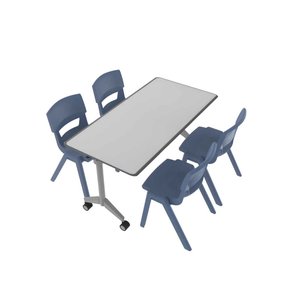 Lets Chat Setting - Pirouette Table Postura Max Chairs