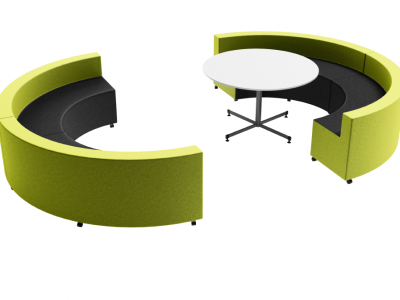 Sphere of Thought - Curve Ottomans Focus Table