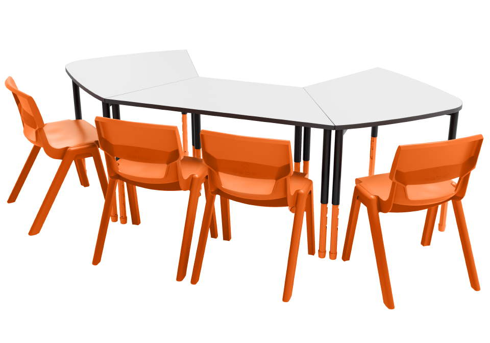 Assess - Stingray Twist'n'Lock Table Trapezoidal Twist'n'Lock Table Postura Max Chair