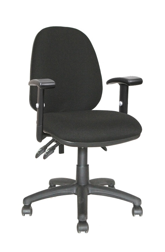 Ergos AC High Back Black Chair