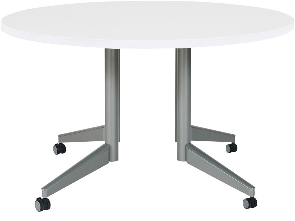 Pirouette C Leg Round White Table