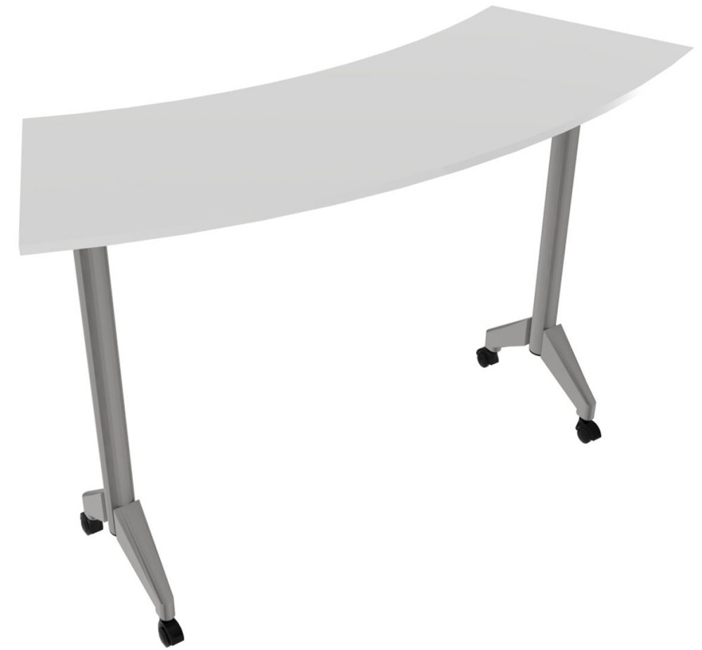 Pirouette Fixed Curve Table White Top