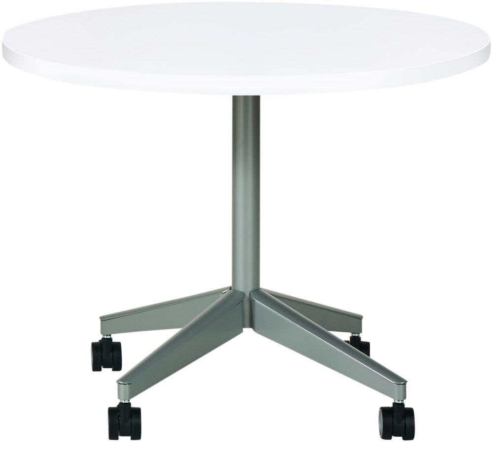 Pirouette XBase Round White Table