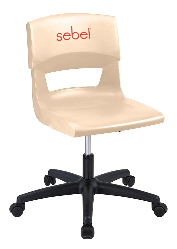 Postura Plus Gaslift Almond Chair with Logo Hot Stamp
