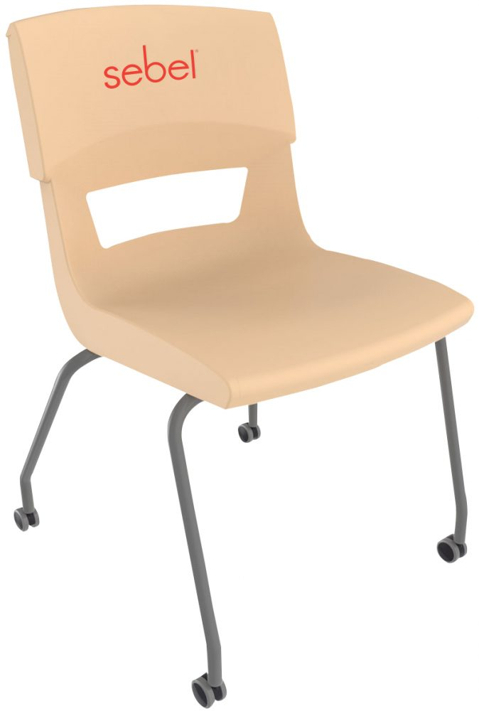 Postura Plus Four Leg Castors Chair Almond
