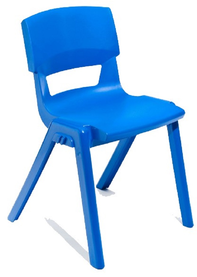 Postura Plus Linking Chair in Blue