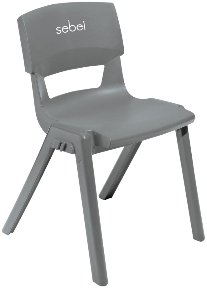 Postura Plus Linking Chair Grey with Logo