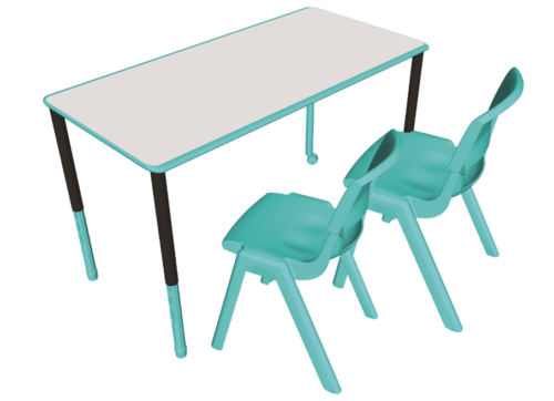 Twist'n'Lock Height Adjustable Table with Postura Max Chairs